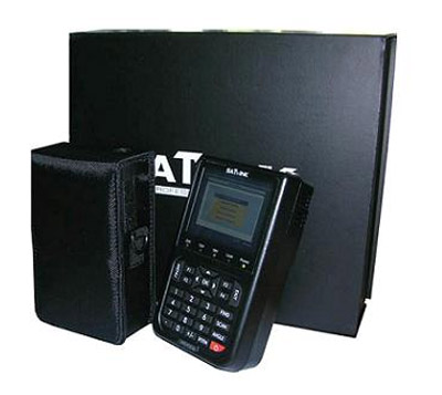 High quality satellite meter signal finder with color LCD screen.